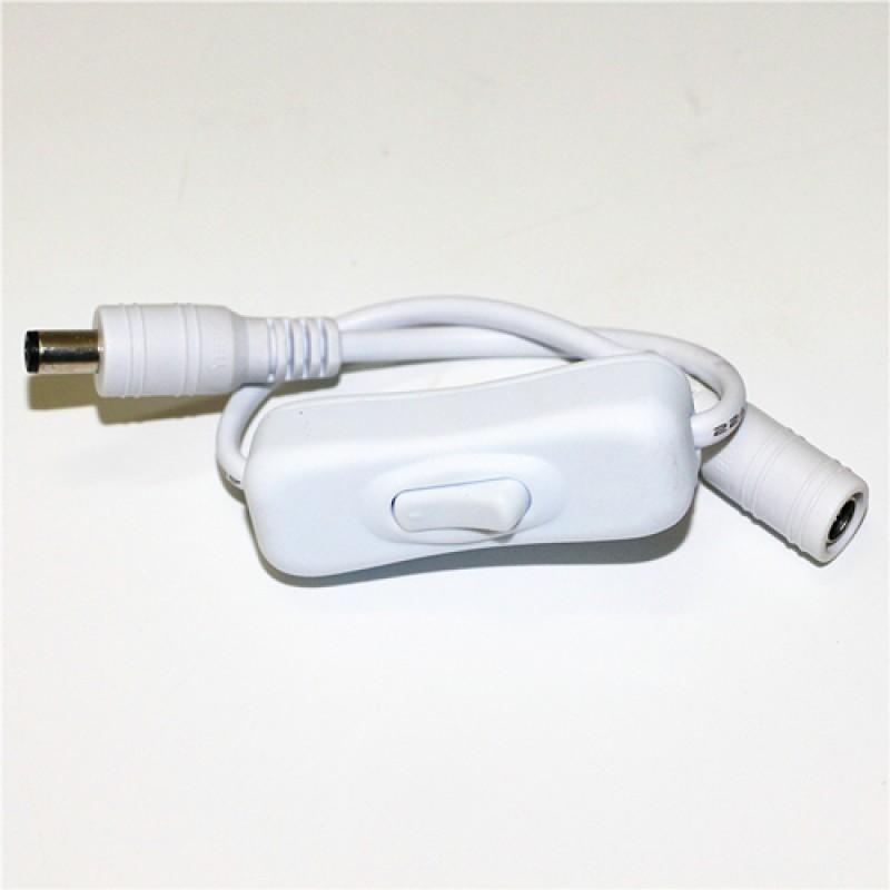 LED Strip Light Inline On Off Rocker Switch 5-24V in White colour