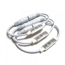 12V 2A Dimmer Controller for Single Color 3528 5050 LED Strip Light w/plug and socket