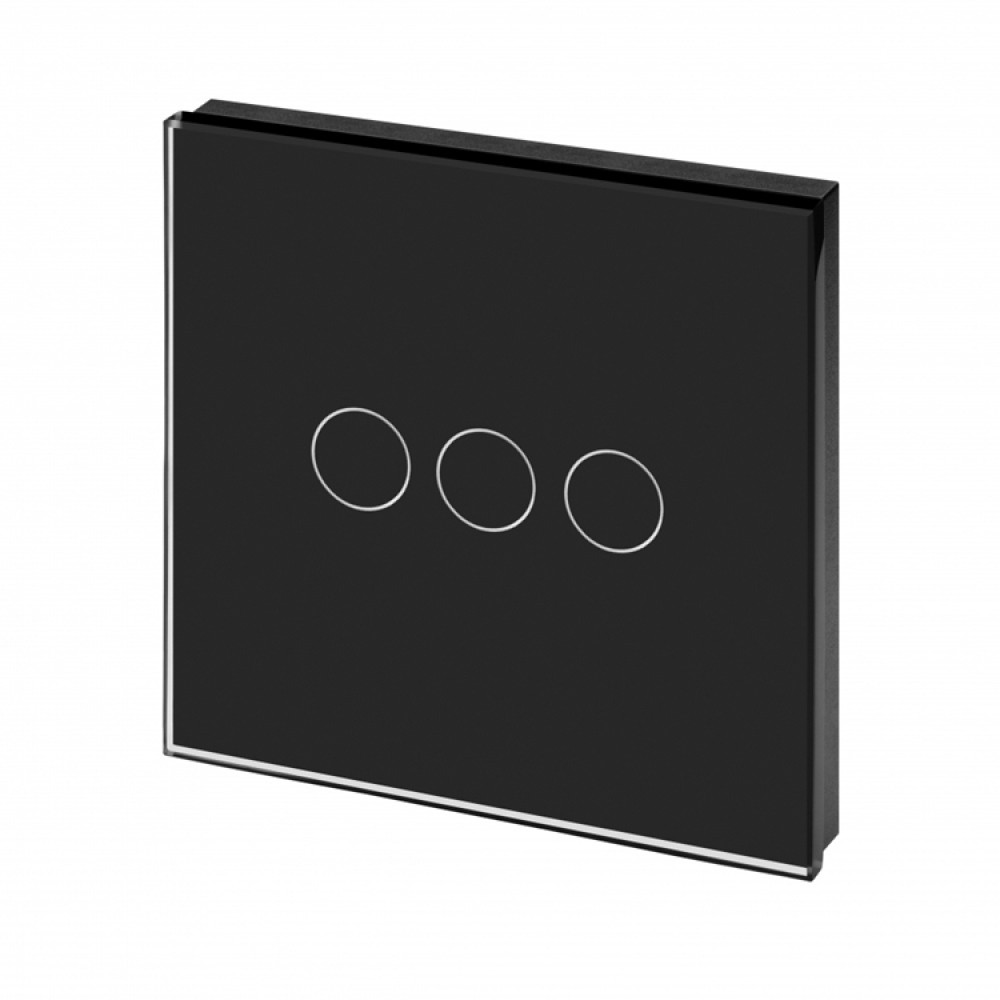 Glass Digital Switch 2 Gang 1way In Black 3 Light Panel Luxury Crystal Touch Led 1 Way Colour