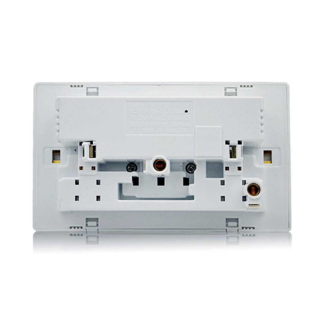 Double Wall Plug Socket W Usb Port