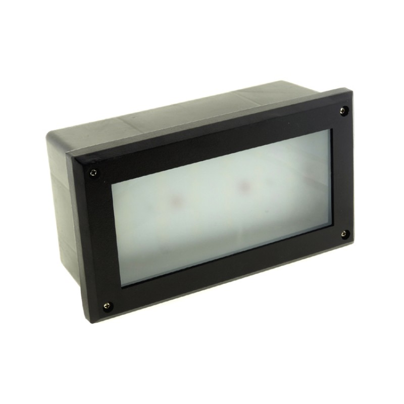 Modern White LED Outdoor Garden Recessed Brick Wall Light Super Bright  IP54 6W [BL-01]