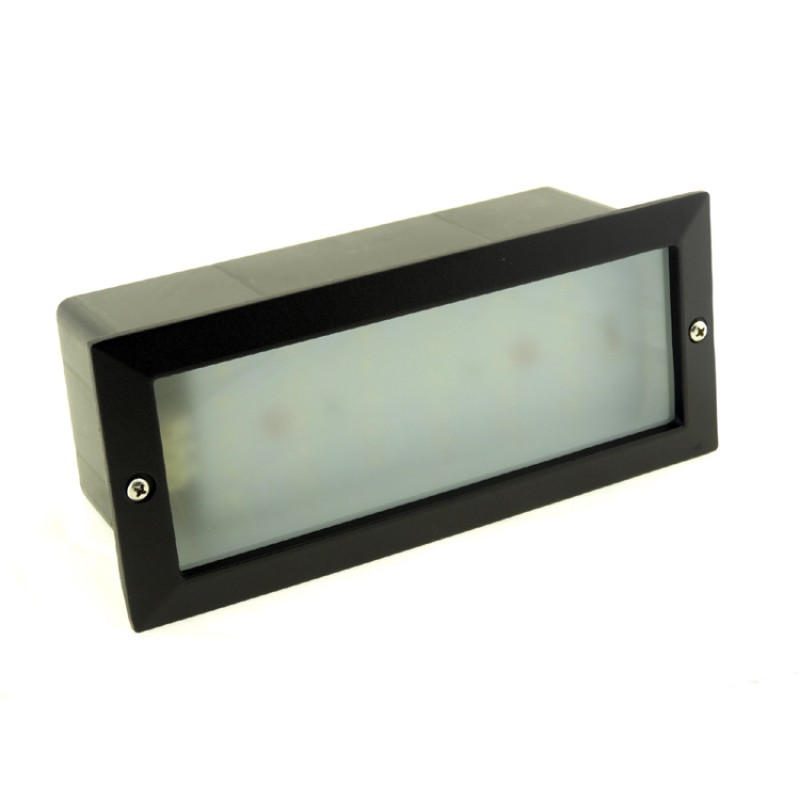 Modern White LED Outdoor Garden Recessed Brick Wall Light Super Bright  IP54 6W [BL-02-CW]