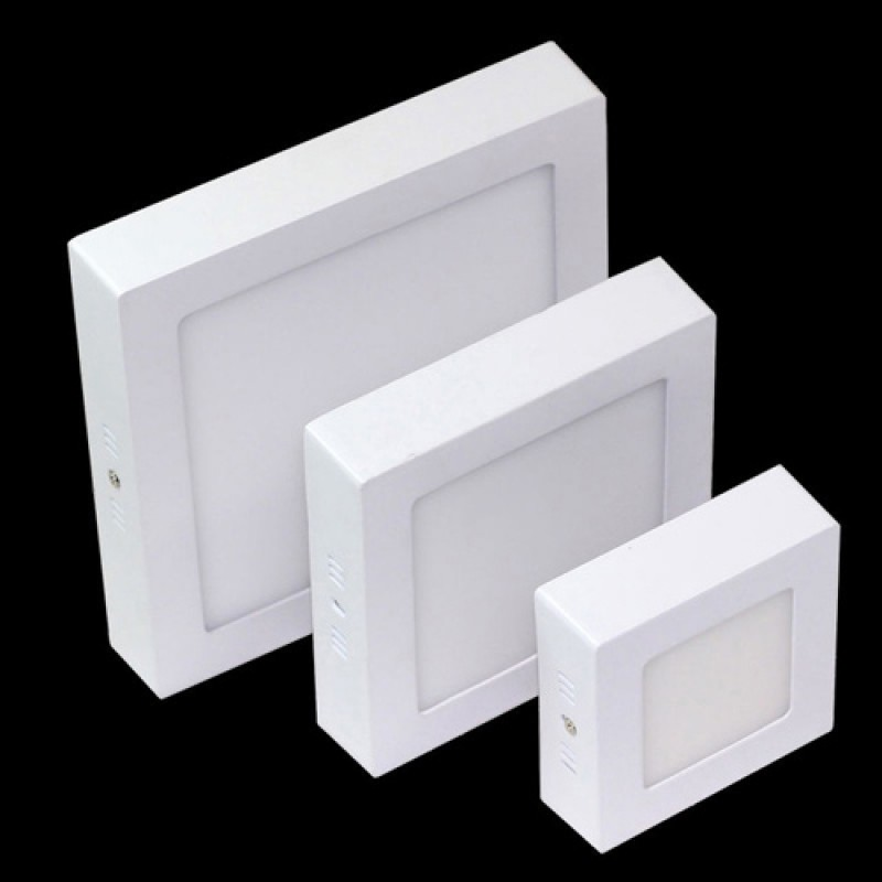Dimmable 12W Square Surface Mounted LED light lamp in Cool White 6000-6500K