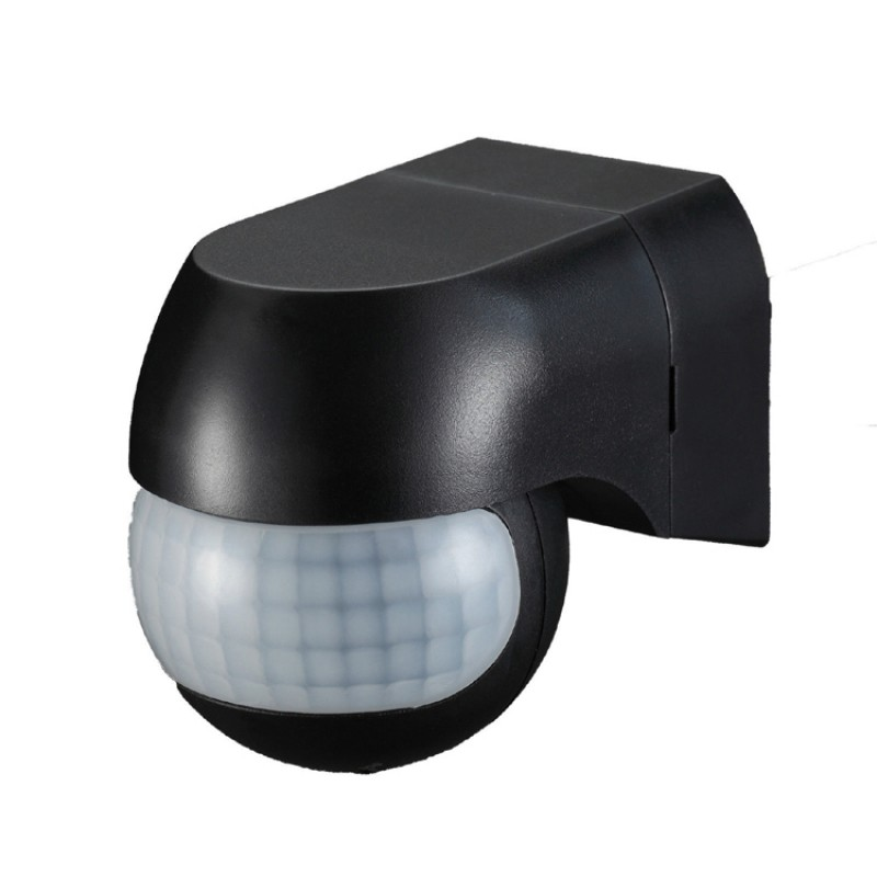 Black PIR Infrared Motion Sensor Light Switch ST12 for LED COB or SMD Flood Lights