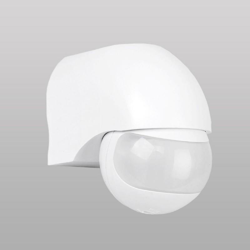 White PIR Infrared Motion Sensor Light Switch ST12 for LED and Energy Saving Bulbs