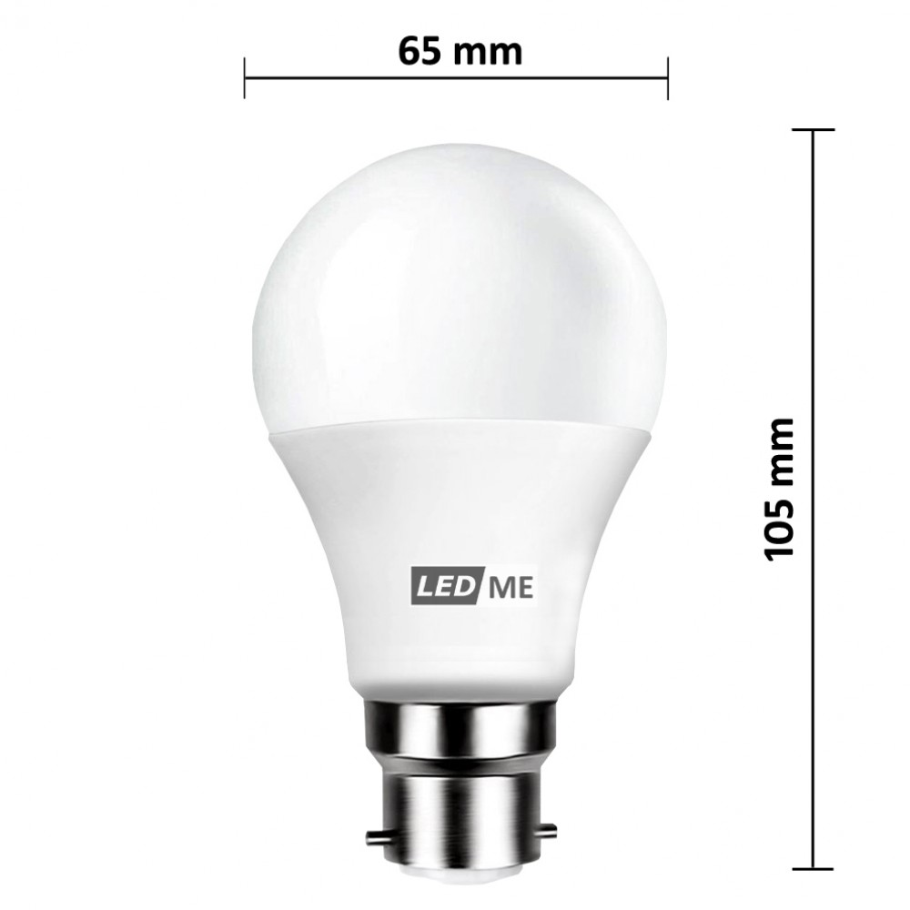 9w Energy Saving Led Bulb B22 Bayonet In Cool White 6000k Non Dimmable