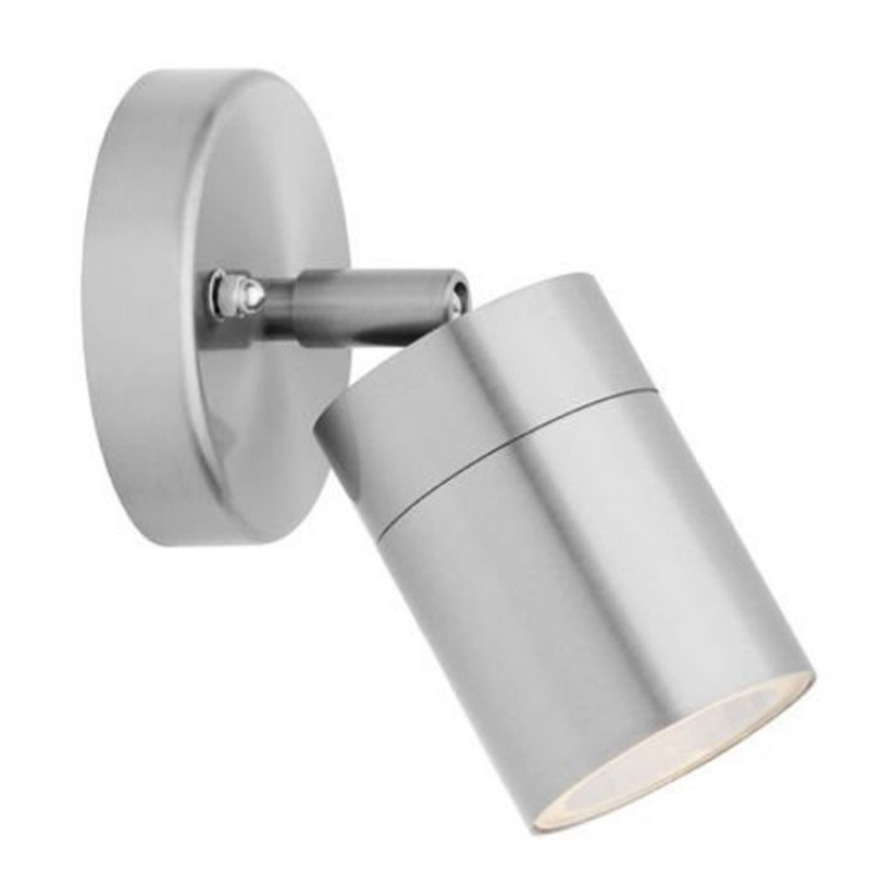 Stainless Steel Down Wall Light GU10 IP54 Single Outdoor Wall Light