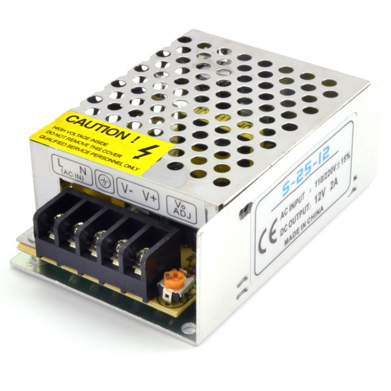 12V 2A 24W CONSTANT VOLTAGE POWER SUPPLY FOR LED STRIP CCTV