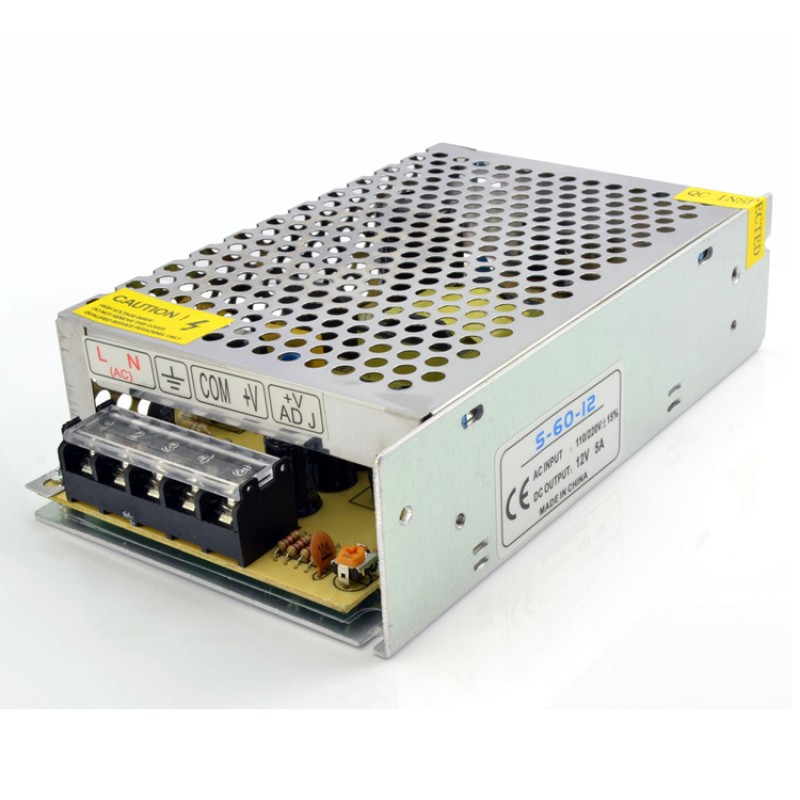 12V 5A 60W CONSTANT VOLTAGE POWER SUPPLY FOR LED STRIP CCTV