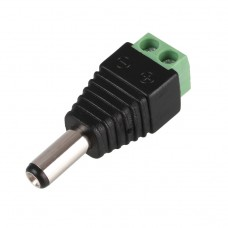 MALE HOLLOW PLUG ADAPTOR CONNECTOR CABLE WIRE JACK FOR LED STRIP LIGHT CCTV CAMERA