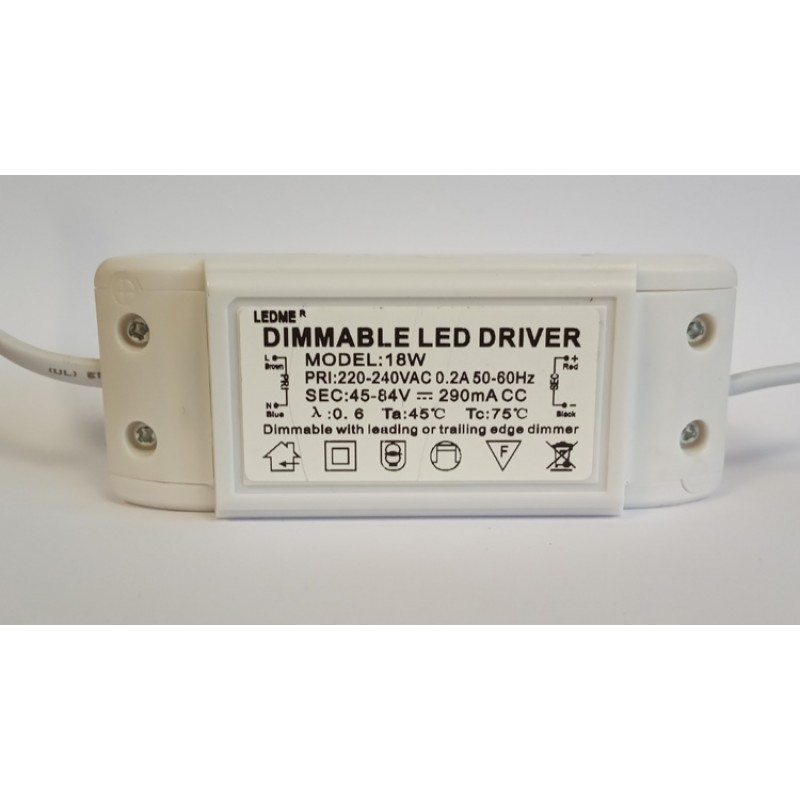 DIMMABLE CONSTANT CURRENT LED DRIVER 280mA 18W 45-84V POWER SUPPLY TRANSFORMER