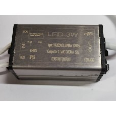 IP65 CONSTANT CURRENT LED DRIVER 300mA 3W DC 5-11V POWER SUPPLY TRANSFORMER