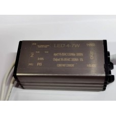IP65 CONSTANT CURRENT LED DRIVER 300mA 4-7W DC 18-26V POWER SUPPLY TRANSFORMER