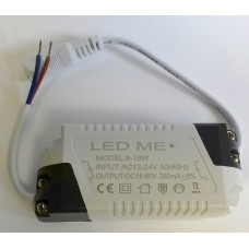 CONSTANT CURRENT LED DRIVER 6-18W 280mA AC 12-24V POWER SUPPLY TRANSFORMER 12V