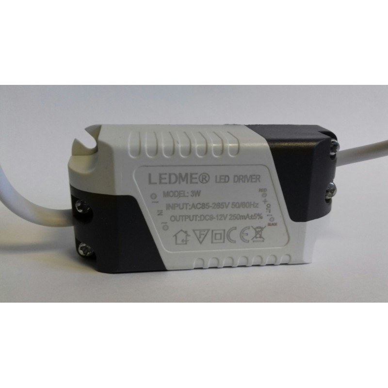 CONSTANT CURRENT LED DRIVER 300mA 3W 9-12V POWER SUPPLY TRANSFORMER