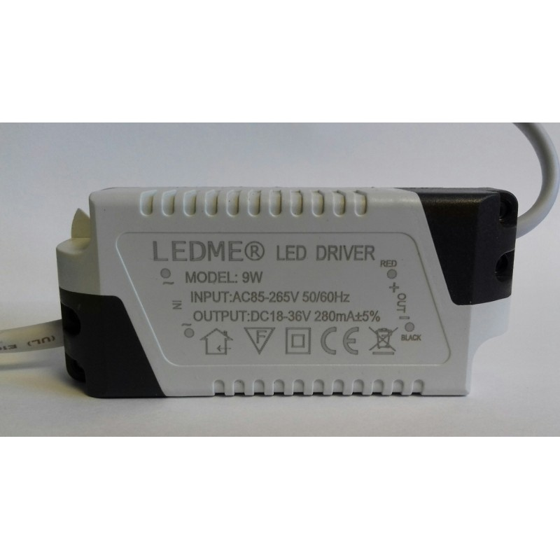 CONSTANT CURRENT LED DRIVER 280mA 9W 18-36V POWER SUPPLY TRANSFORMER