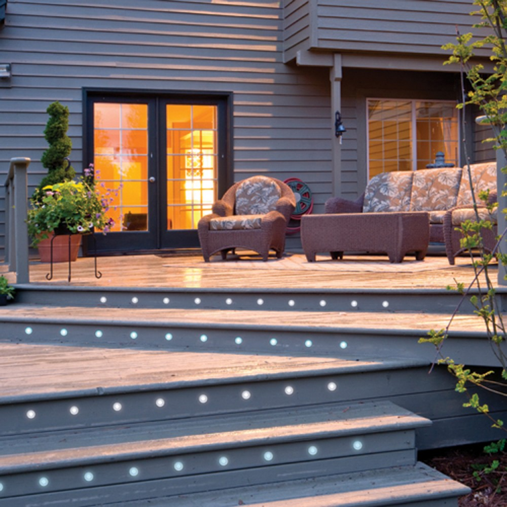 Led Kitchen Garden: Led Deck Lights Kit Set Of 10 In Cool White 6000k