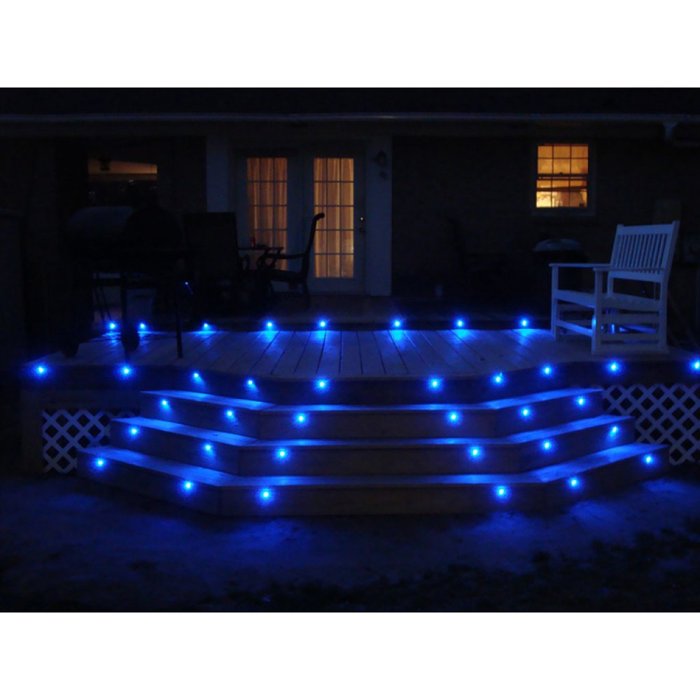 Led deck lights kit set of 8 in blue mozeypictures Gallery
