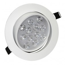 12W Tilt Angle Adjustment Recessed Spotlight LED Ceiling Downlight in Warm White