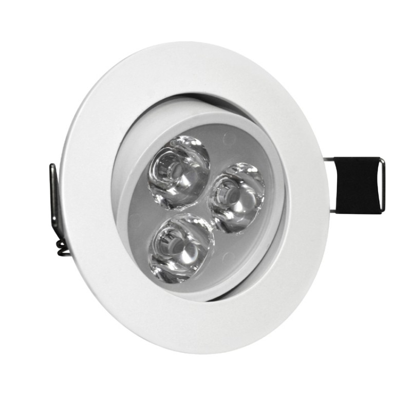 3W Tilt Angle Adjustment Recessed Spotlight LED Ceiling Downlight in Warm White