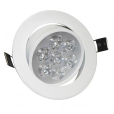 7W Tilt Angle Adjustment Recessed Spotlight LED Ceiling Downlight in Cool White