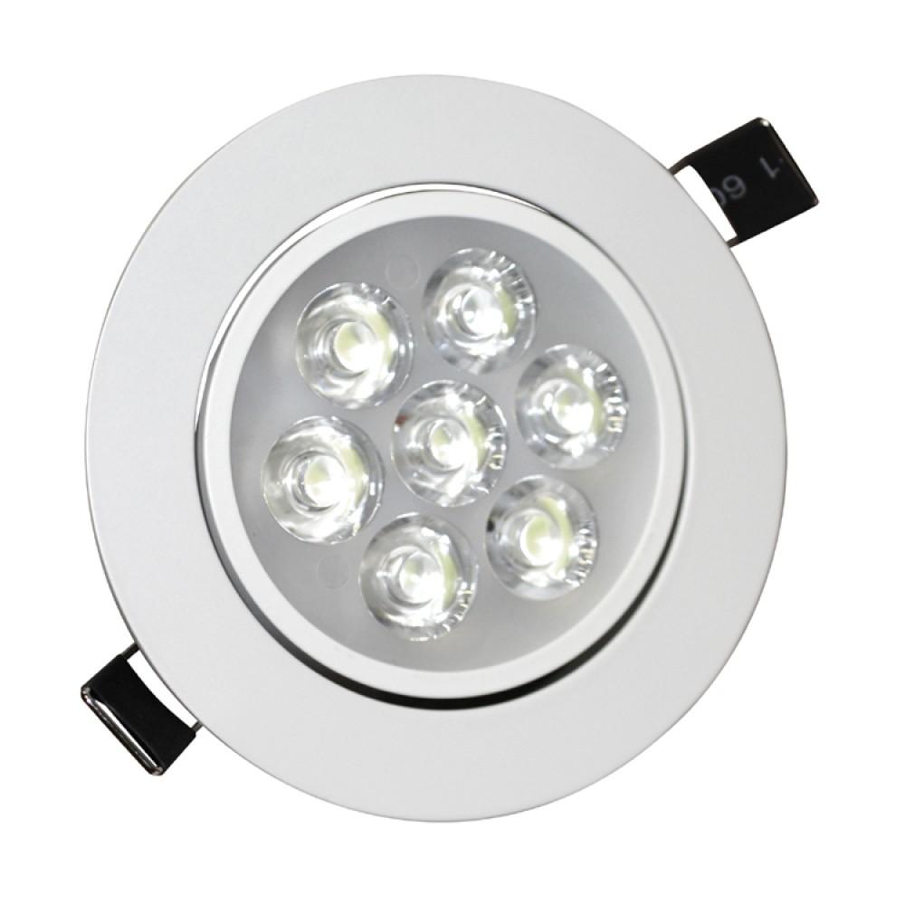 7w tilt angle adjustment recessed spotlight led ceiling downlight in ...