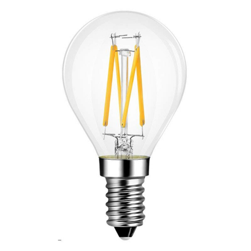 E14 LED Filament Golfball 4W Glass bulb 360° beam angle