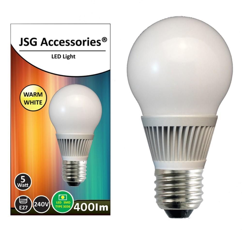 5w energy saving led bulb e27 in warm white. Black Bedroom Furniture Sets. Home Design Ideas