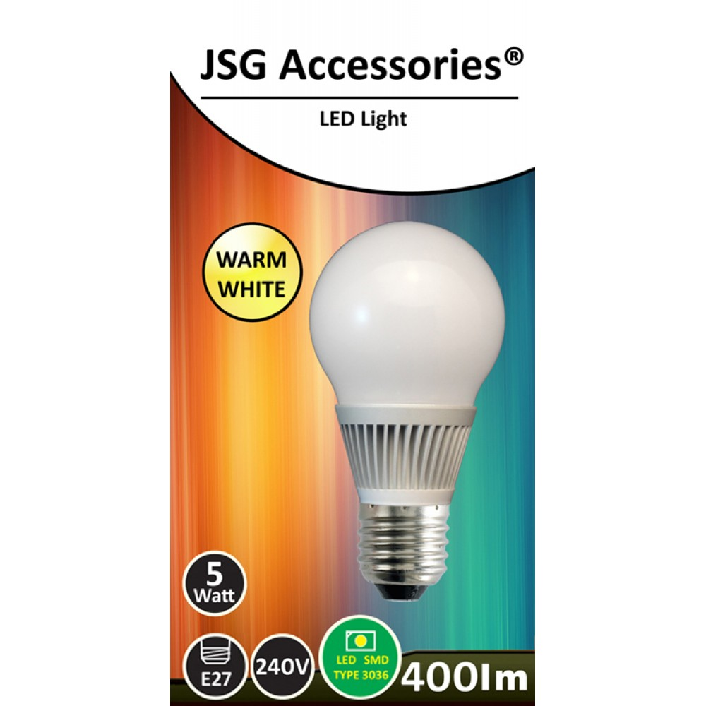 5w Energy Saving Led Bulb E27 In Warm White