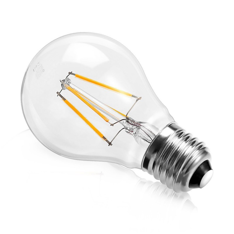 8W LED Filament bulb E27 Retro Style Classic Glass Warm White 2700K (non-dimmable) Standard Shape
