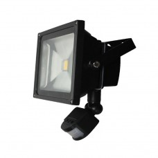 10W LED FLOOD LIGHT WITH PIR IN WARM WHITE