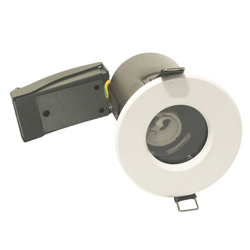 IP65 Bathroom Fire Rated GU10 Down Light Fitting in White