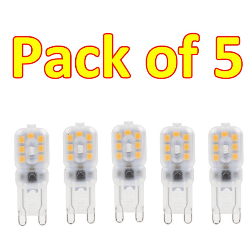 G9 3W 14 3528SMD Led Milky Cover Warm White 3200K  (pack of 5)