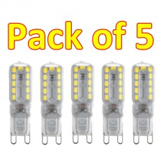G9 5W 22 3528SMD Led Frosted Cover Warm White 3200K  (pack of 5)