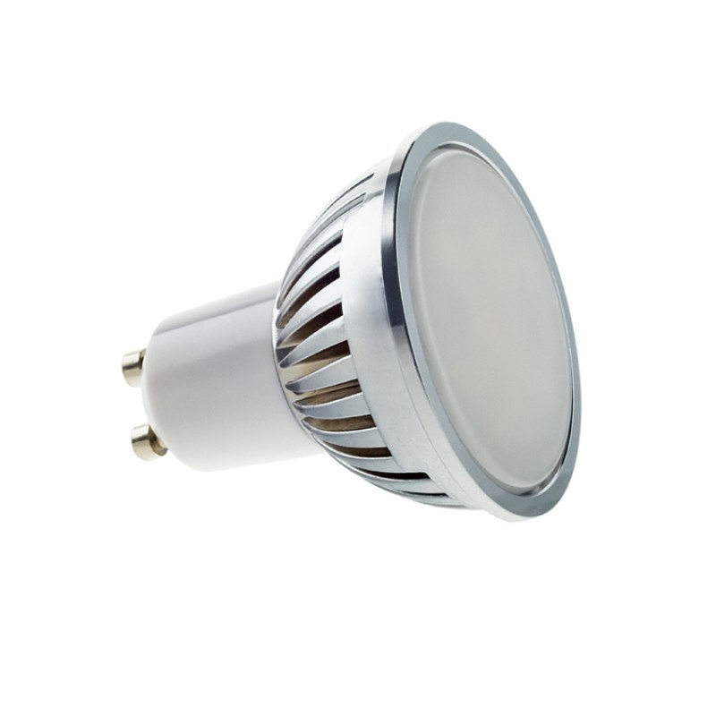 GU10 4W LED Bulb  Spot Lamps in DAY WHITE in aluminium shell with FROSTED cover
