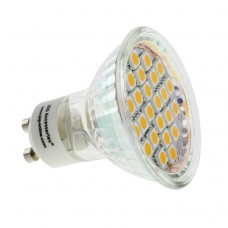 GU10 3.8W LED Bulb  Spot Lamps in WARM WHITE 24SMD 5050 in glass shell with cover