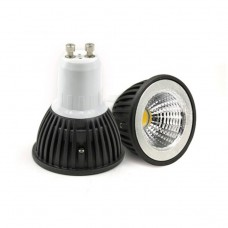 DIMMABLE GU10 3W  COB LED Bulb in COOL WHITE in aluminium  shell