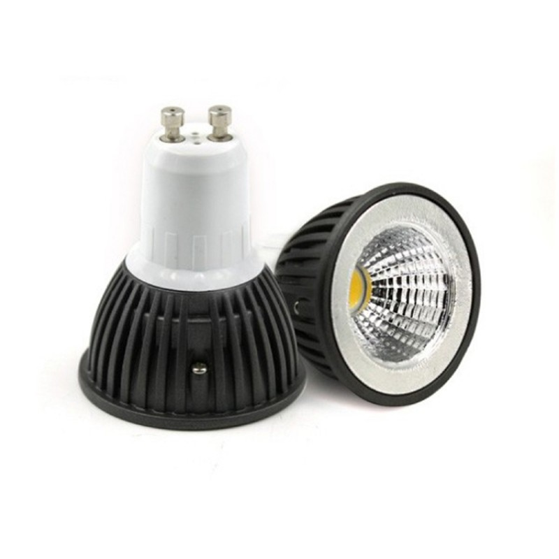 GU10 3W  COB LED Bulb in COOL WHITE in aluminium  shell