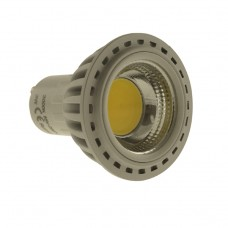 GU10 3W COB LED Bulb in WARM WHITE in aluminium  shell with cover