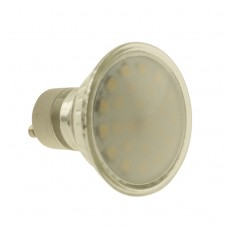 GU10 3.5W LED Bulb  Spot Lamps in WARM WHITE  24SMD 3535 in glass shell with FROSTED cover