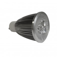 GU10 6W  LED Bulb  Spot Lamps in WARM WHITE in aluminium  shell