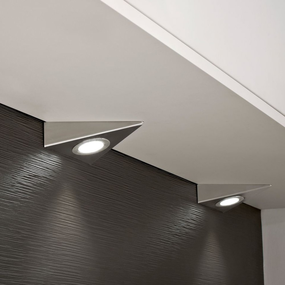 Kitchen Under Cabinet Triangle Led Light In Cool White 6000k