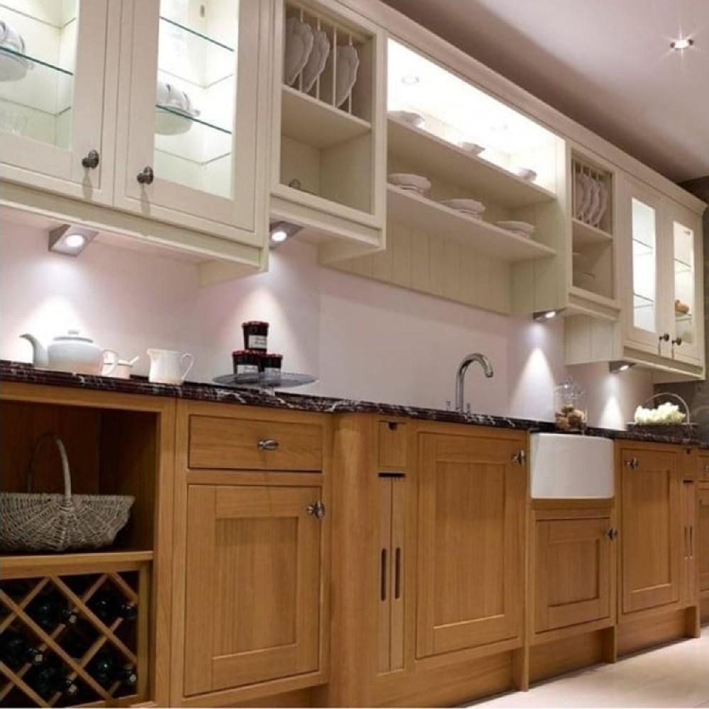kitchen under cabinet wedge led light in warm white 3200k