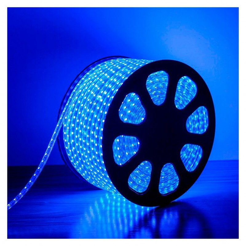 240V LED Strips Light 3528 SMD 60 per metre Waterproof IP65 Blue