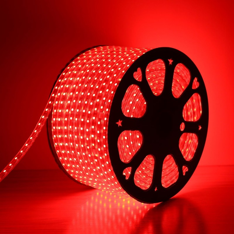 240V LED Strips Light 3528 SMD 60 per metre Waterproof IP65 Red