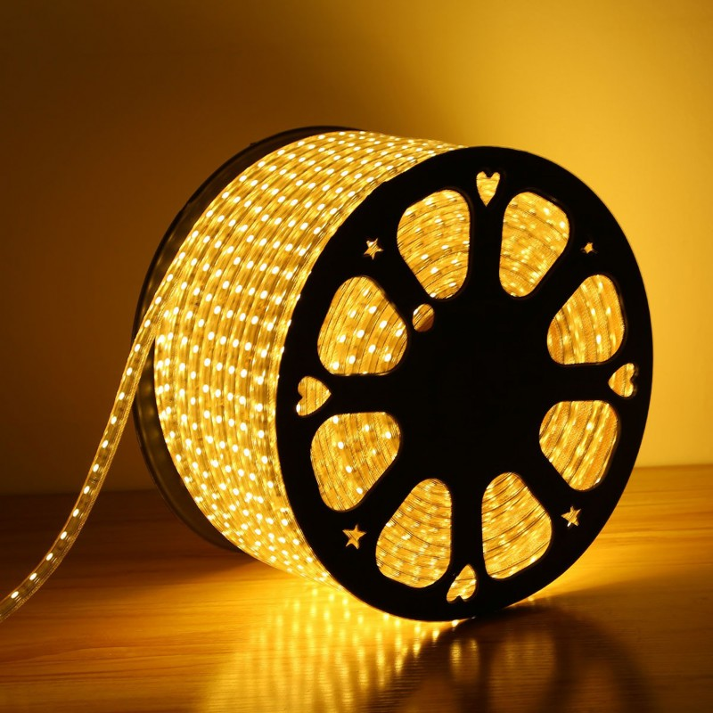 240V LED Strips Light 3528 SMD 60 per metre Waterproof IP65 Warm White 3200K