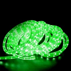 240V LED Rope Light 36 LED  per metre Waterproof IP65 Green