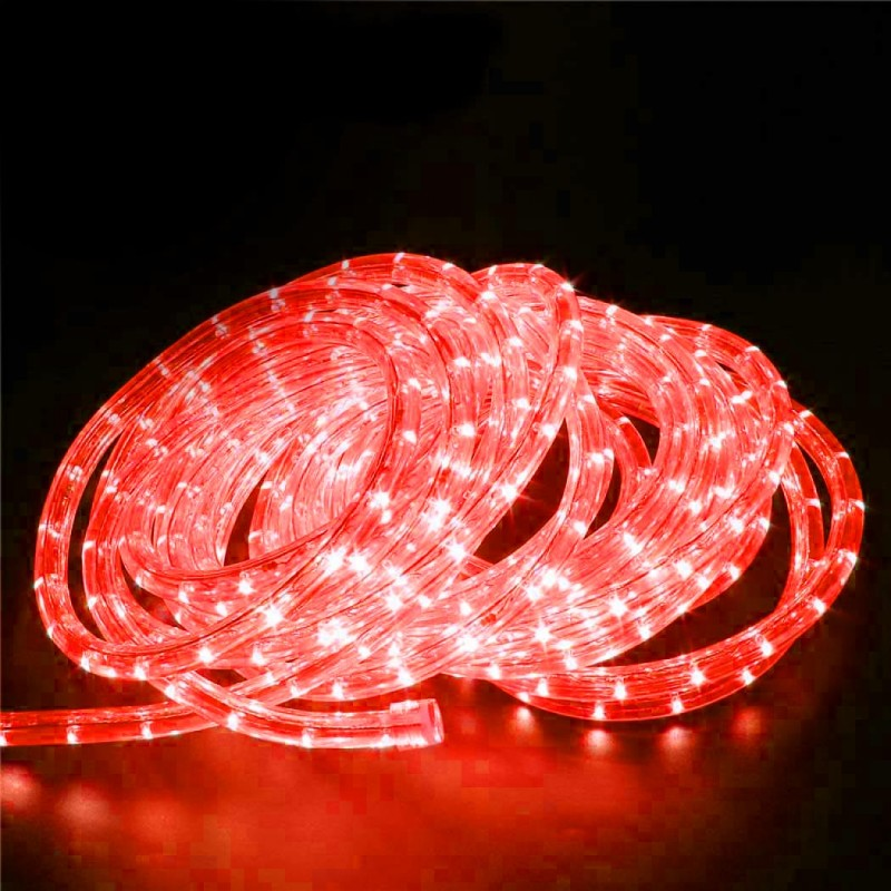 240V LED Rope Light 36 LED  per metre Waterproof IP65 Red