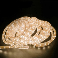 240V LED Rope Light 36 LED  per metre Waterproof IP65 Warm White 3200K