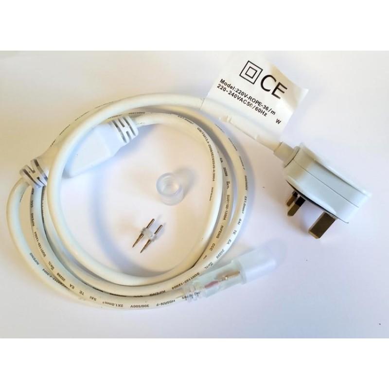 240V Power Cord - Connection Kit for LED Rope Light 1.5m long